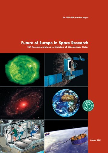Future of Europe in Space Research - European Science Foundation