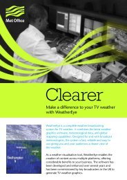 Make a difference to your TV weather with WeatherEye - Met Office