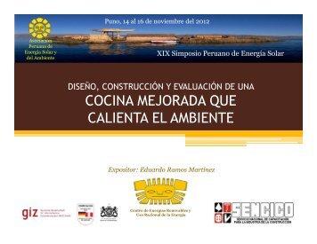 cocina mejorada que calienta el ambiente - Asociación Peruana de ...