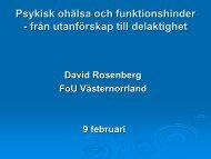 Psykisk ohälsa och funktionshinder lsa och ... - Sundsvall
