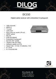 Teknisk specifikation (ENG) - Dilog