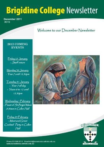 Issue 19 Dec 16th 2011 - Brigidine College Randwick