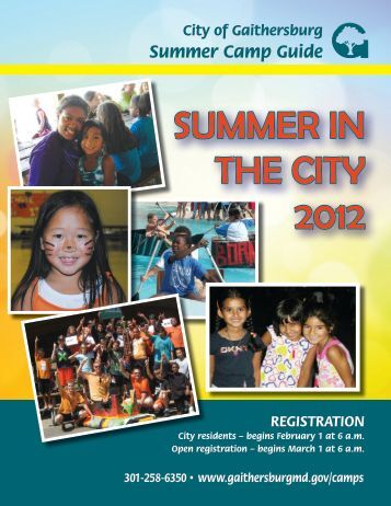 Summer Camp Guide - City of Gaithersburg