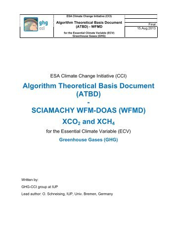 Algorithm Theoretical Basis Document (ATBD ... - GHG-CCI