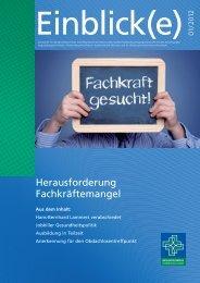 Einblicke 1-2012 - Misericordia GmbH Krankenhausträgergesellschaft
