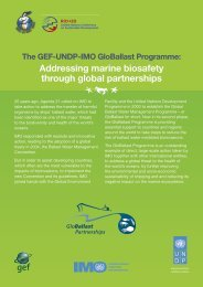 addressing marine biosafety through global partnerships - Rio+20