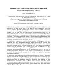 Constraint-based Modeling and Kinetic Analysis of the ... - ICSB 2007