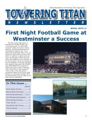 First Night Football Game at Westminster a Success