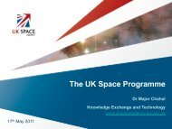 The UK Space Programme - ESA-BIC