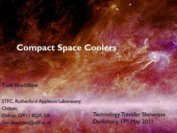 Compact space coolers and cryogenics applications - ESA-BIC