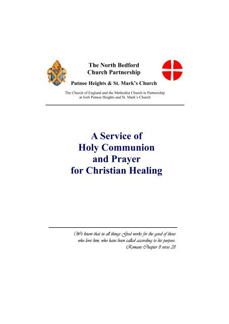 Service of Holy Communion and Prayer for Christian healing