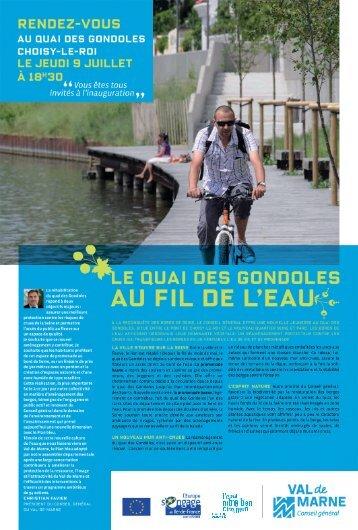 Journal du quai des gondoles - Conseil général du Val-de-Marne