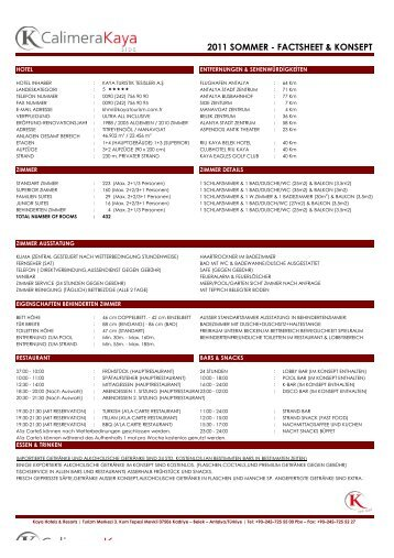 YENI FACT SHEETS'2011