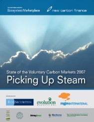 State of the Voluntary Carbon Markets 2007 - Ecosystem Marketplace