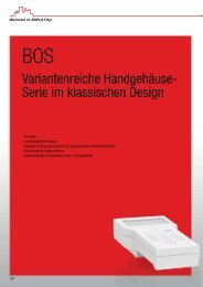 Variantenreiche Handgehäuse- Serie im klassischen Design - Bopla
