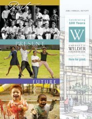 Wilder Report 4pdf - Amherst H. Wilder Foundation