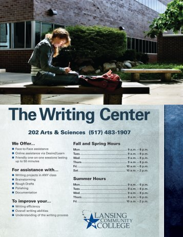 upenn writing center The writing center exists as a resource for students, faculty, and staff of penn state lehigh valley to improve their writing.