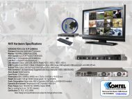 NVR Hardware Specifications - COMTEL