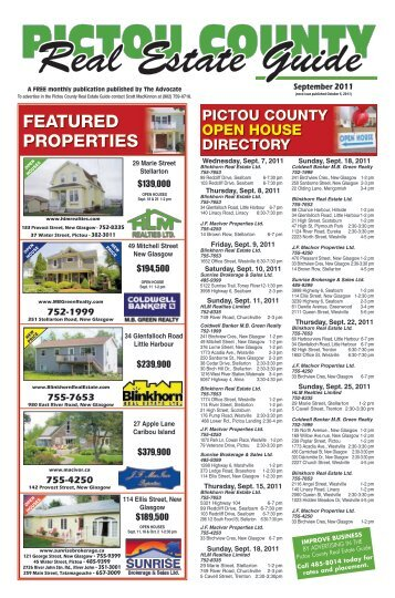 FEATURED PROPERTIES - The Pictou Advocate