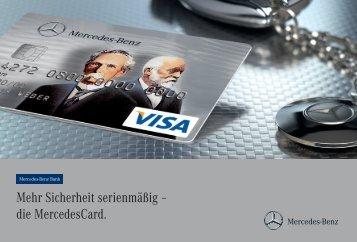 die MercedesCard. - Mercedes-Benz Bank