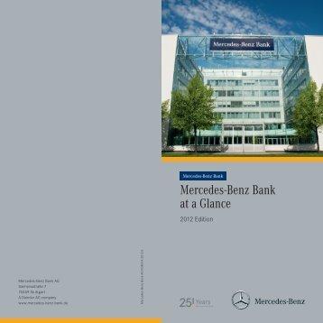 Mercedes-Benz Bank at a Glance