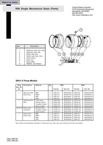 Dpe Mech Seals Sheet Jan2011 Lowara