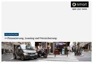 Finanzierung, Leasing und Versicherung smart  - Mercedes-Benz Bank