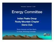 Sep 2008 - Roger Singer Energy Policies - Sierra Club Rocky ...