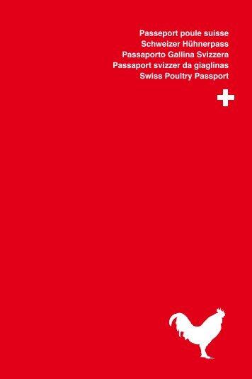 Passeport poule suisse Schweizer Hühnerpass ... - GalloSuisse