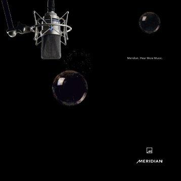 Meridian. Hear More Music.