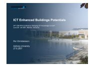 ICT Enhanced Buildings Potentials - IT in Civil Engineering. Aalborg ...