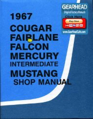 DEMO - 1967 Ford Shop Manual - ForelPublishing.com