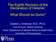 The Eighth Revision of the Declaration of Helsinki: What Should be ...