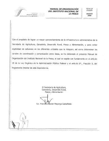 DEL INSTITUTO NACIONAL DE - Inapesca