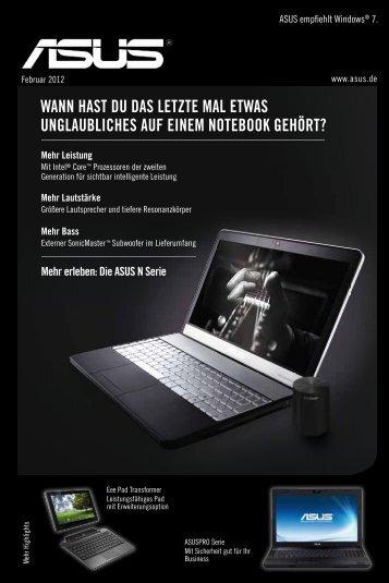 ASUS empfiehlt Windows® 7.
