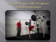Oregon Project S&C Program - Therapeutic Associates