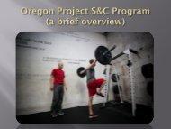 Oregon Project S&C Program - Therapeutic Associates