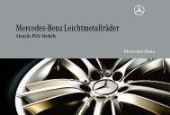 Mercedes-Benz Leichtmetallräder. Aktuelle PKW-Modelle.