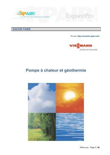 Pompe à chaleur et géothermie - Xpair