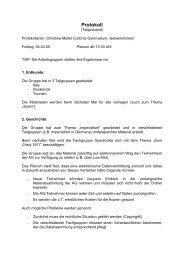 Protokoll 04. März 2005 (nachmittags)