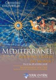 Méditerranée, nouveau centre du monde ? (plaquette ... - Terre Entière