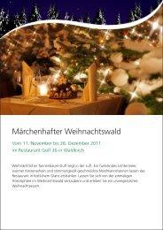 Märchenhafter Weihnachtswald - Golfpark Waldkirch