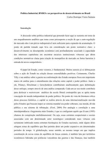 Política Industrial, BNDES e as perspectivas de desenvolvimento no ...