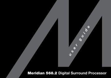 Meridian 568.2 Digital Surround Processor User Guide