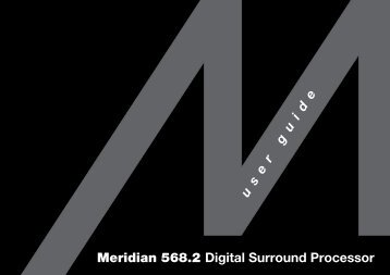 Meridian 568.2 Digital Surround Processor User Guide