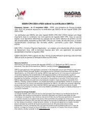 EDEN CPA DDA e7020 obtient la certification EMVCo - Nagra