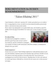 DOKUMENTATION SENSOMMERFEST - Ellidshøj Skole