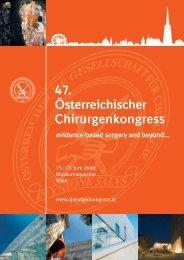 47. Österreichischer Chirurgenkongress