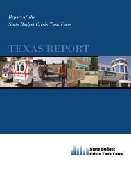 Texas Cover.pub - State Budget Crisis Task Force