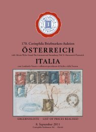 ÖSTERREICH ITALIA - Corinphila Auktionen AG